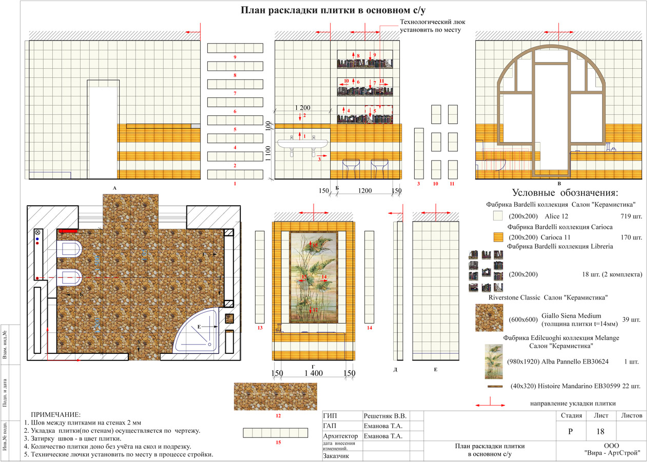 схема раскладки плитки на кухне пол
