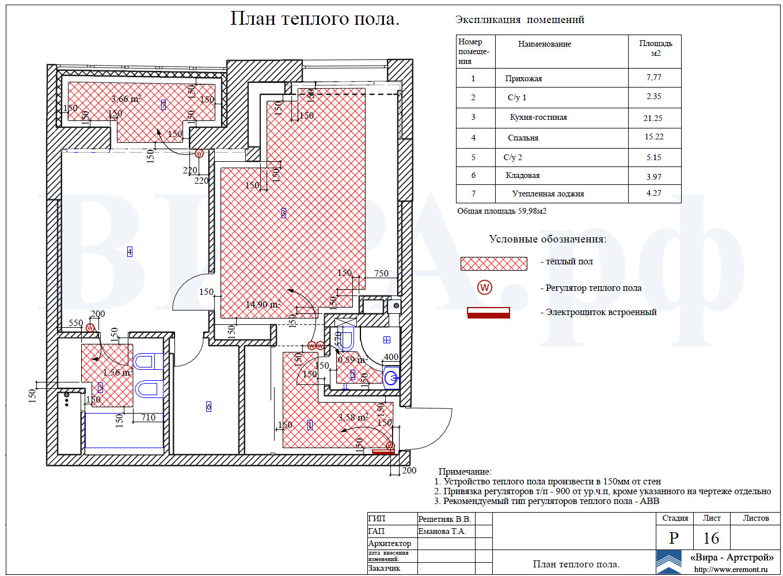 Схема теплые полы водяные в квартире